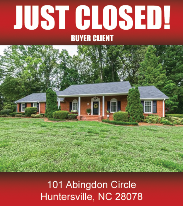 Lake Norman Nc Real Estate: (CLOSED) 101 Abingdon Circle, Huntersville, NC