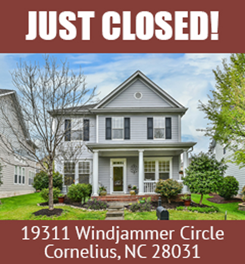 Lake Norman Nc Real Estate: SOLD! 19311 Windjammer Circle, Cornelius, NC 28031
