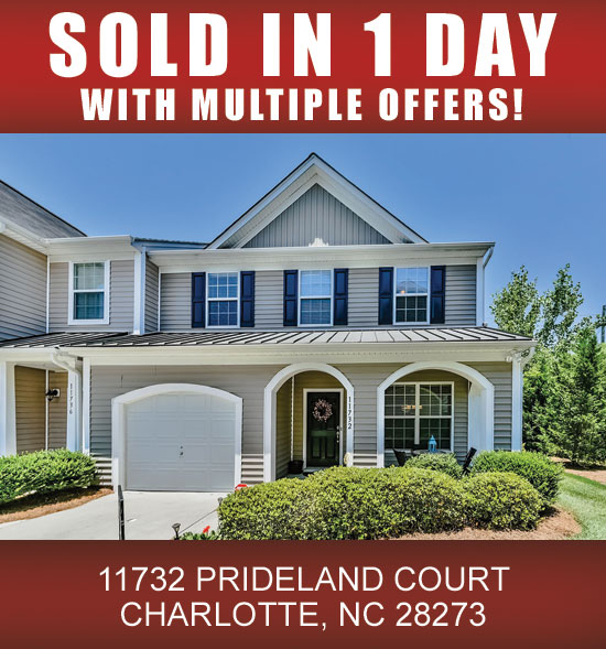 Lake Norman Nc Real Estate: (SOLD) 11732 PRIDELAND COURT #11732, CHARLOTTE, NC 28273