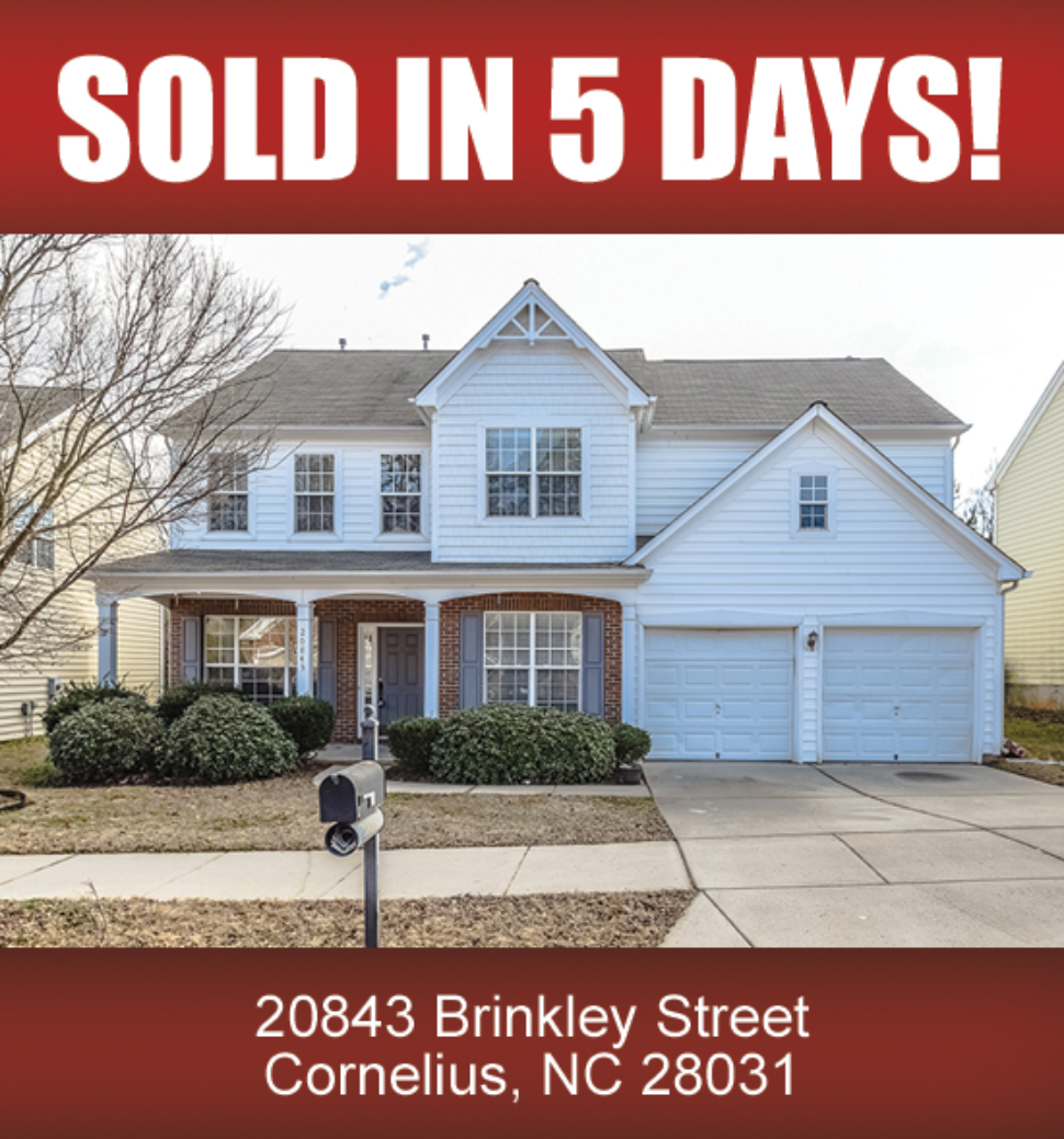 Lake Norman Nc Real Estate: (SOLD) 20843 Brinkley Street, Cornelius, NC 28031
